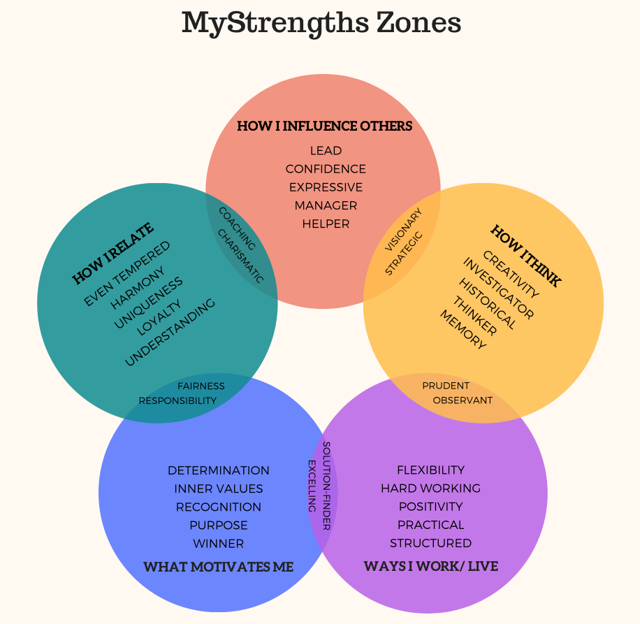 Graph 1: MyStrengths Zones